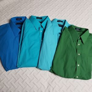 Lot of 4 Men's Button Ups